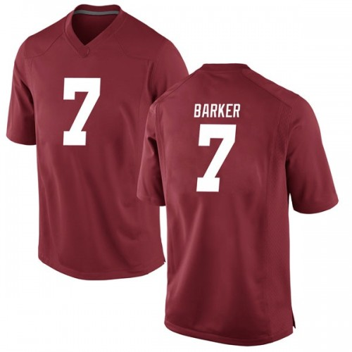 Men's Nike Braxton Barker Alabama Crimson Tide Game Crimson Football College Jersey