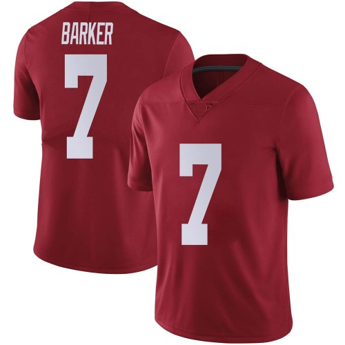 Men's Nike Braxton Barker Alabama Crimson Tide Limited Crimson Football College Jersey
