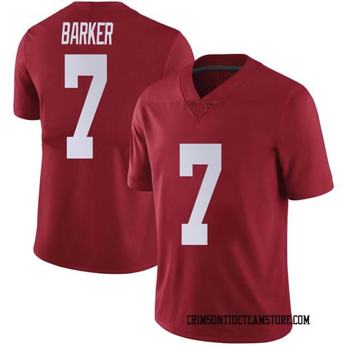 Men's Nike Braxton Barker Alabama Crimson Tide Limited Crimson Football College Jersey