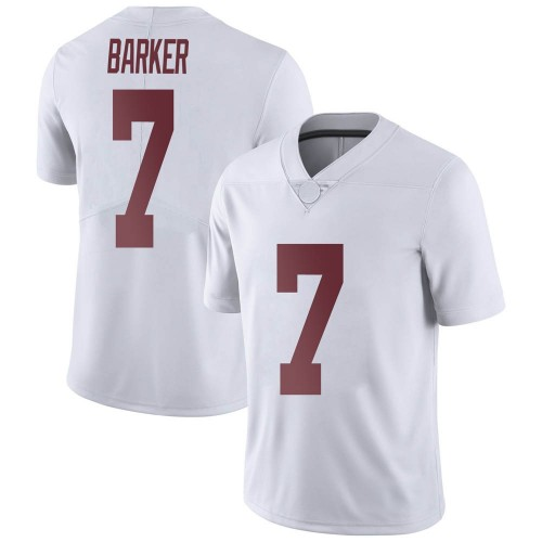 Men's Nike Braxton Barker Alabama Crimson Tide Limited White Football College Jersey