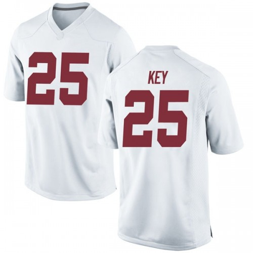 Men's Nike Braxton Key Alabama Crimson Tide Game White Football College Jersey