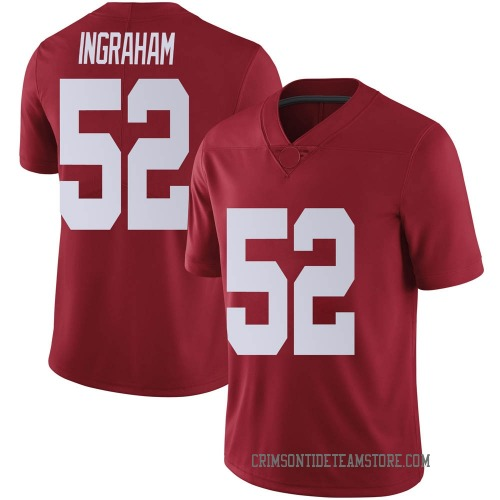 Men's Nike Braylen Ingraham Alabama Crimson Tide Limited Crimson Football College Jersey