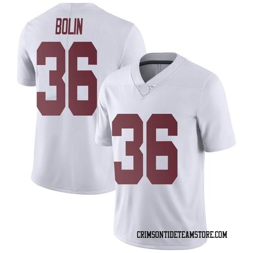 Men's Nike Bret Bolin Alabama Crimson Tide Limited White Football College Jersey