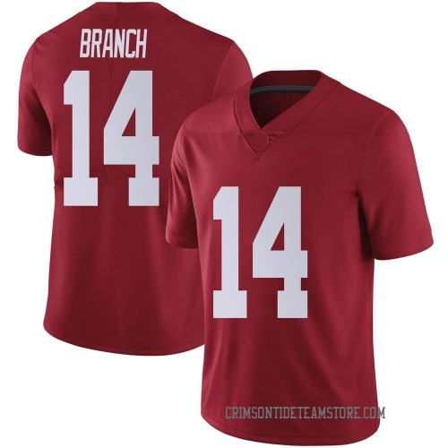 Men's Nike Brian Branch Alabama Crimson Tide Limited Crimson Football College Jersey