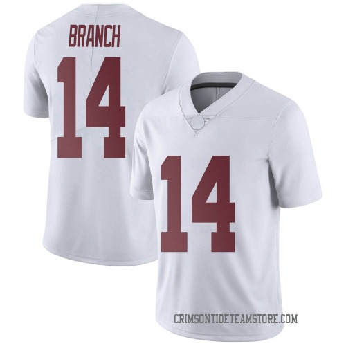 Men's Nike Brian Branch Alabama Crimson Tide Limited White Football College Jersey
