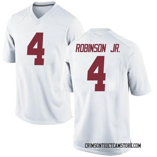 Men's Nike Brian Robinson Jr. Alabama Crimson Tide Replica White Football College Jersey