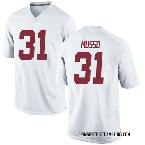 Men's Nike Bryce Musso Alabama Crimson Tide Game White Football College Jersey