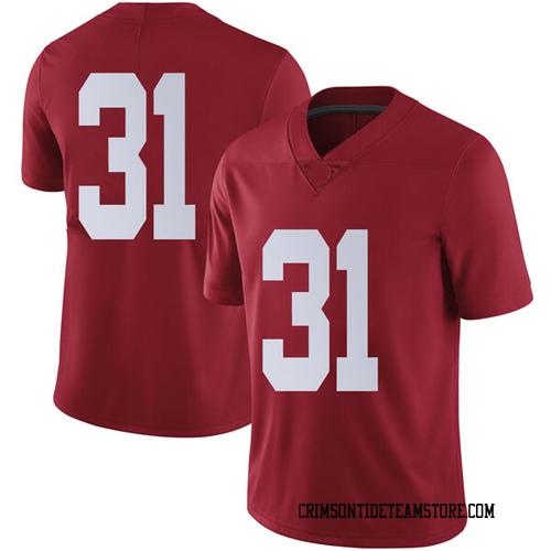 Men's Nike Bryce Musso Alabama Crimson Tide Limited Crimson Football College Jersey