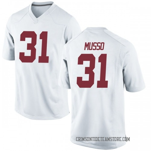 Men's Nike Bryce Musso Alabama Crimson Tide Replica White Football College Jersey