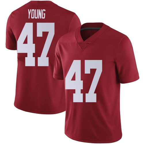 Men's Nike Byron Young Alabama Crimson Tide Limited Crimson Football College Jersey