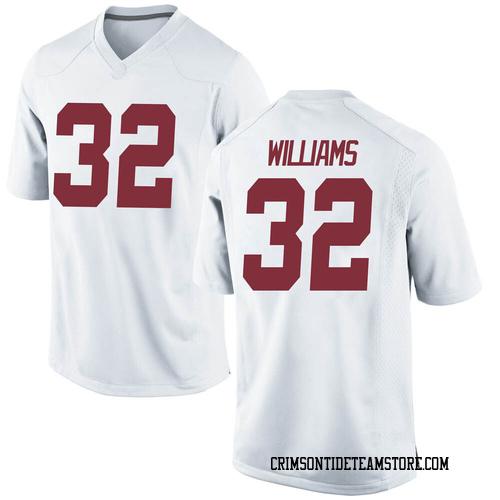 Men's Nike C.J. Williams Alabama Crimson Tide Game White Football College Jersey