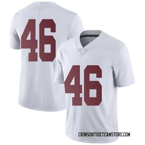 Men's Nike Cameron Latu Alabama Crimson Tide Limited White Football College Jersey