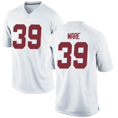 Men's Nike Carson Ware Alabama Crimson Tide Game White Football College Jersey