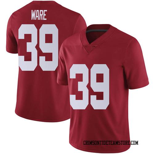 Men's Nike Carson Ware Alabama Crimson Tide Limited Crimson Football College Jersey