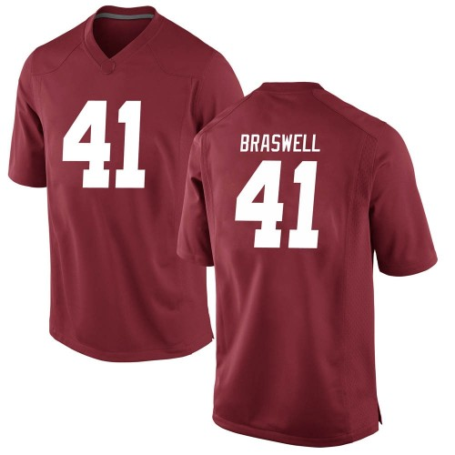 Men's Nike Chris Braswell Alabama Crimson Tide Game Crimson Football College Jersey