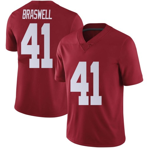 Men's Nike Chris Braswell Alabama Crimson Tide Limited Crimson Football College Jersey