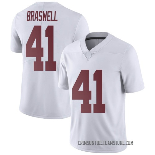 Men's Nike Chris Braswell Alabama Crimson Tide Limited White Football College Jersey