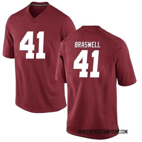 Men's Nike Chris Braswell Alabama Crimson Tide Replica Crimson Football College Jersey