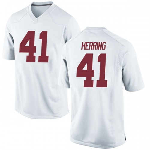 Men's Nike Chris Herring Alabama Crimson Tide Replica White Football College Jersey