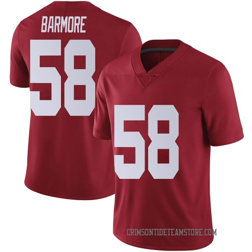 Men's Nike Christian Barmore Alabama Crimson Tide Limited Crimson Football College Jersey