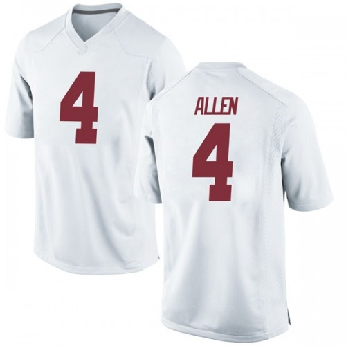 Men's Nike Christopher Allen Alabama Crimson Tide Game White Football College Jersey