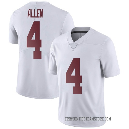 Men's Nike Christopher Allen Alabama Crimson Tide Limited White Football College Jersey
