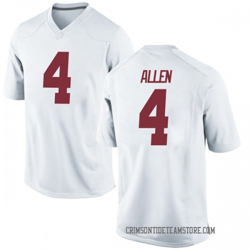 Men's Nike Christopher Allen Alabama Crimson Tide Replica White Football College Jersey
