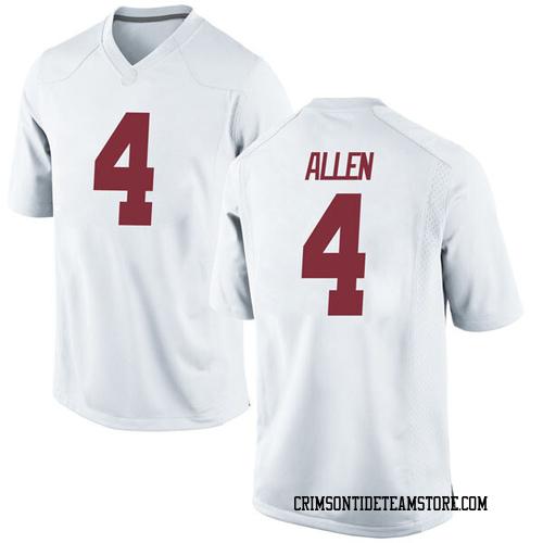 Men's Nike Christopher Allen Alabama Crimson Tide Replica White Football College Jersey