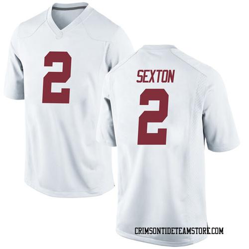 Men's Nike Collin Sexton Alabama Crimson Tide Replica White Football College Jersey