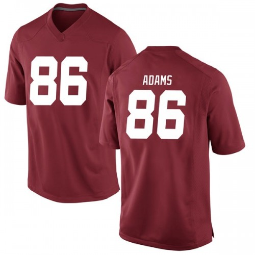 Men's Nike Connor Adams Alabama Crimson Tide Game Crimson Football College Jersey
