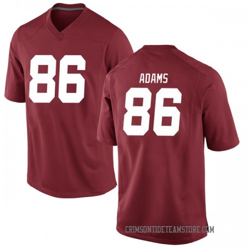 Men's Nike Connor Adams Alabama Crimson Tide Replica Crimson Football College Jersey