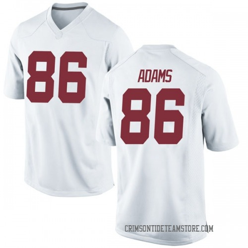 Men's Nike Connor Adams Alabama Crimson Tide Replica White Football College Jersey