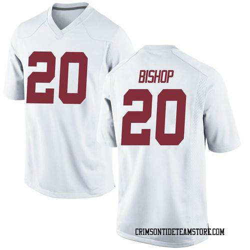 Men's Nike Cooper Bishop Alabama Crimson Tide Game White Football College Jersey