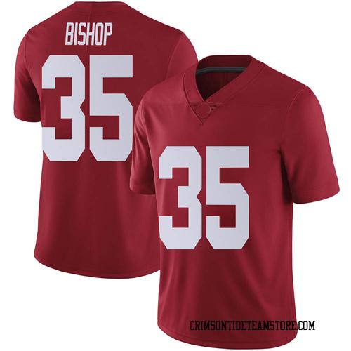 Men's Nike Cooper Bishop Alabama Crimson Tide Limited Crimson Football College Jersey