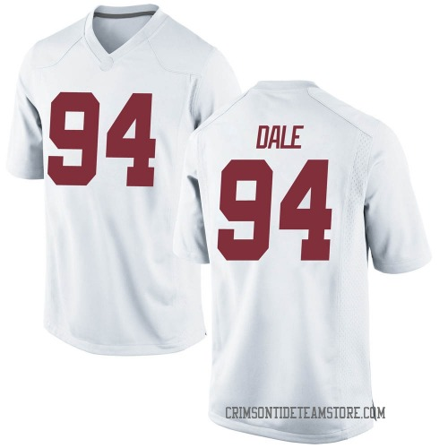 Men's Nike DJ Dale Alabama Crimson Tide Game White Football College Jersey