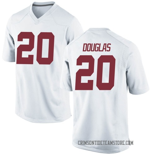 Men's Nike DJ Douglas Alabama Crimson Tide Game White Football College Jersey