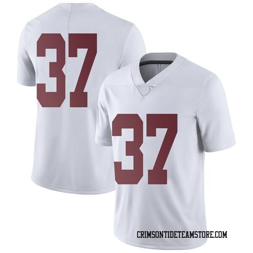 Men's Nike Dalton Adkison Alabama Crimson Tide Limited White Football College Jersey