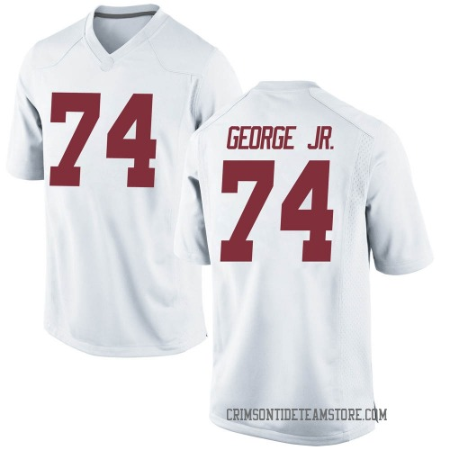 Men's Nike Damieon George Jr. Alabama Crimson Tide Game White Football College Jersey