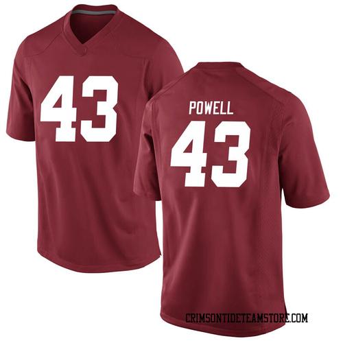 Men's Nike Daniel Powell Alabama Crimson Tide Replica Crimson Football College Jersey