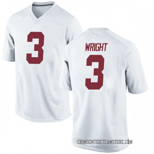 Men's Nike Daniel Wright Alabama Crimson Tide Game White Football College Jersey