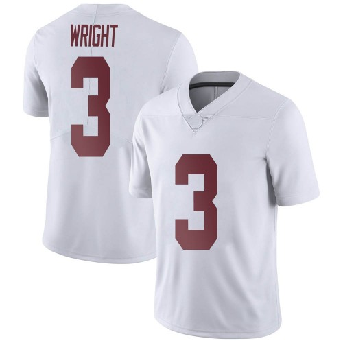 Men's Nike Daniel Wright Alabama Crimson Tide Limited White Football College Jersey