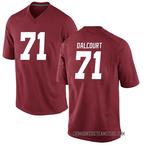Men's Nike Darrian Dalcourt Alabama Crimson Tide Game Crimson Football College Jersey