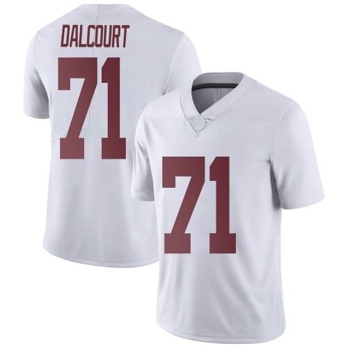 Men's Nike Darrian Dalcourt Alabama Crimson Tide Limited White Football College Jersey