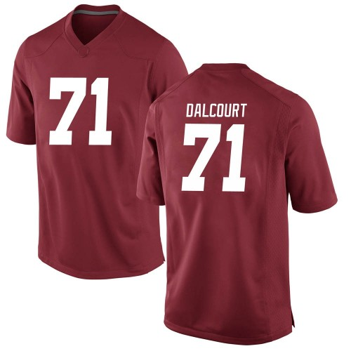 Men's Nike Darrian Dalcourt Alabama Crimson Tide Replica Crimson Football College Jersey