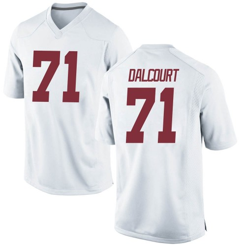 Men's Nike Darrian Dalcourt Alabama Crimson Tide Replica White Football College Jersey