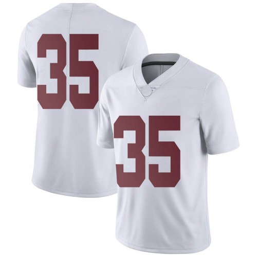 Men's Nike De'Marquise Lockridge Alabama Crimson Tide Limited White Football College Jersey
