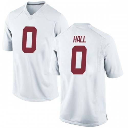 Men's Nike Donta Hall Alabama Crimson Tide Game White Football College Jersey