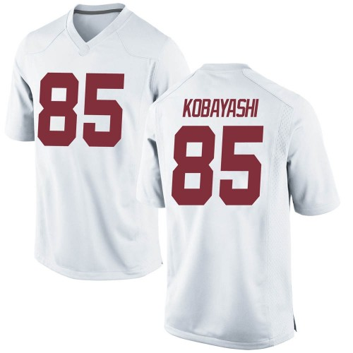 Men's Nike Drew Kobayashi Alabama Crimson Tide Game White Football College Jersey