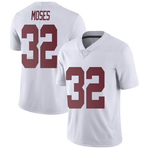 Men's Nike Dylan Moses Alabama Crimson Tide Limited White Football College Jersey