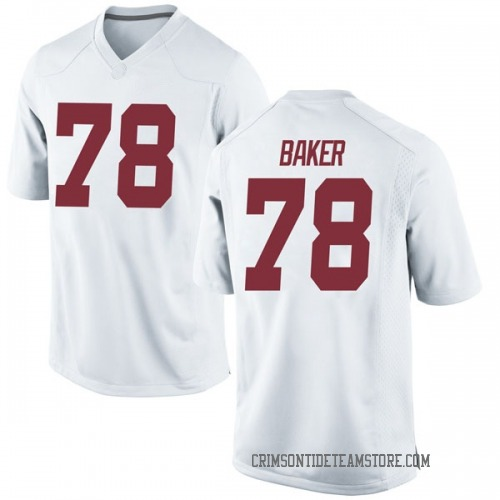 Men's Nike Elliot Baker Alabama Crimson Tide Game White Football College Jersey